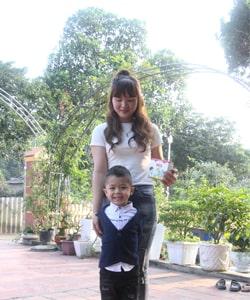 Mẹ 9x tự tin nuôi con khỏe, tăng cân đều